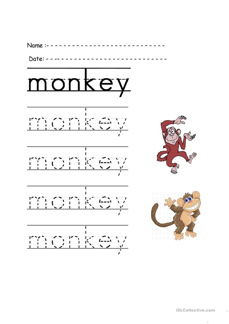 Trace The Word - English Esl Worksheets For Distance