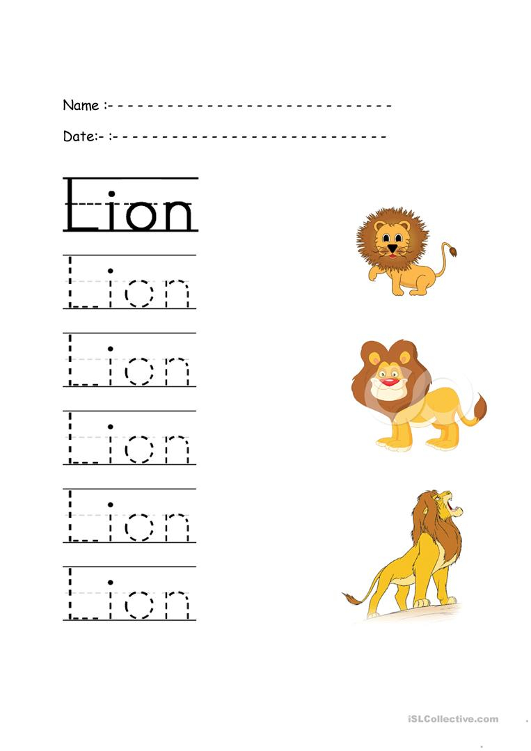 Trace The Words - English Esl Worksheets For Distance