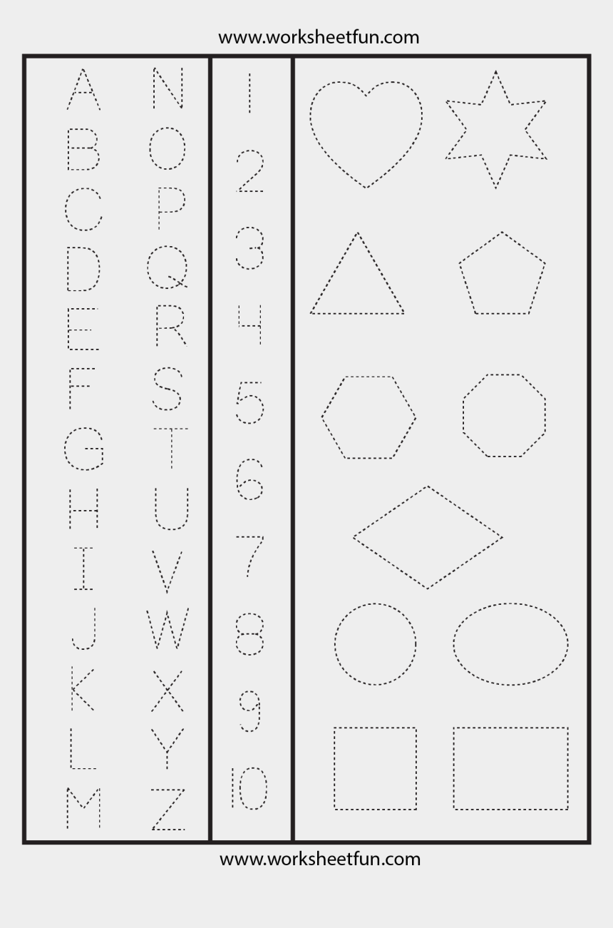 Tracing Letters And Numbers Printable Free Coloring Pages