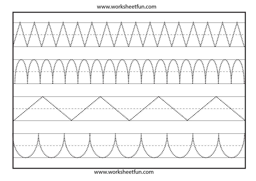 Tracing Lines Worksheets Preschool Free – Nilekayakclub