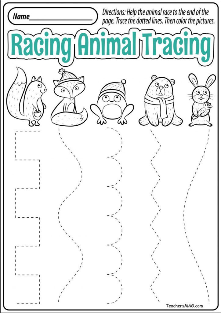 Tracing Linesl Printables Free Fall For Coloring Sheets