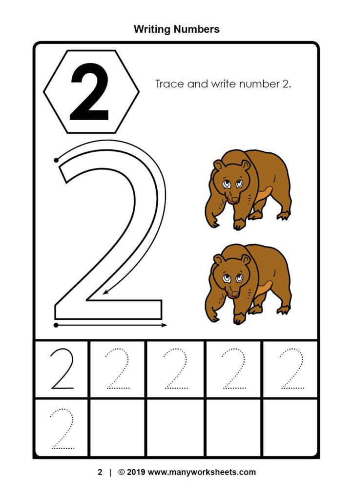 Tracing Number Worksheets For Kindergarten Preschool Ratio