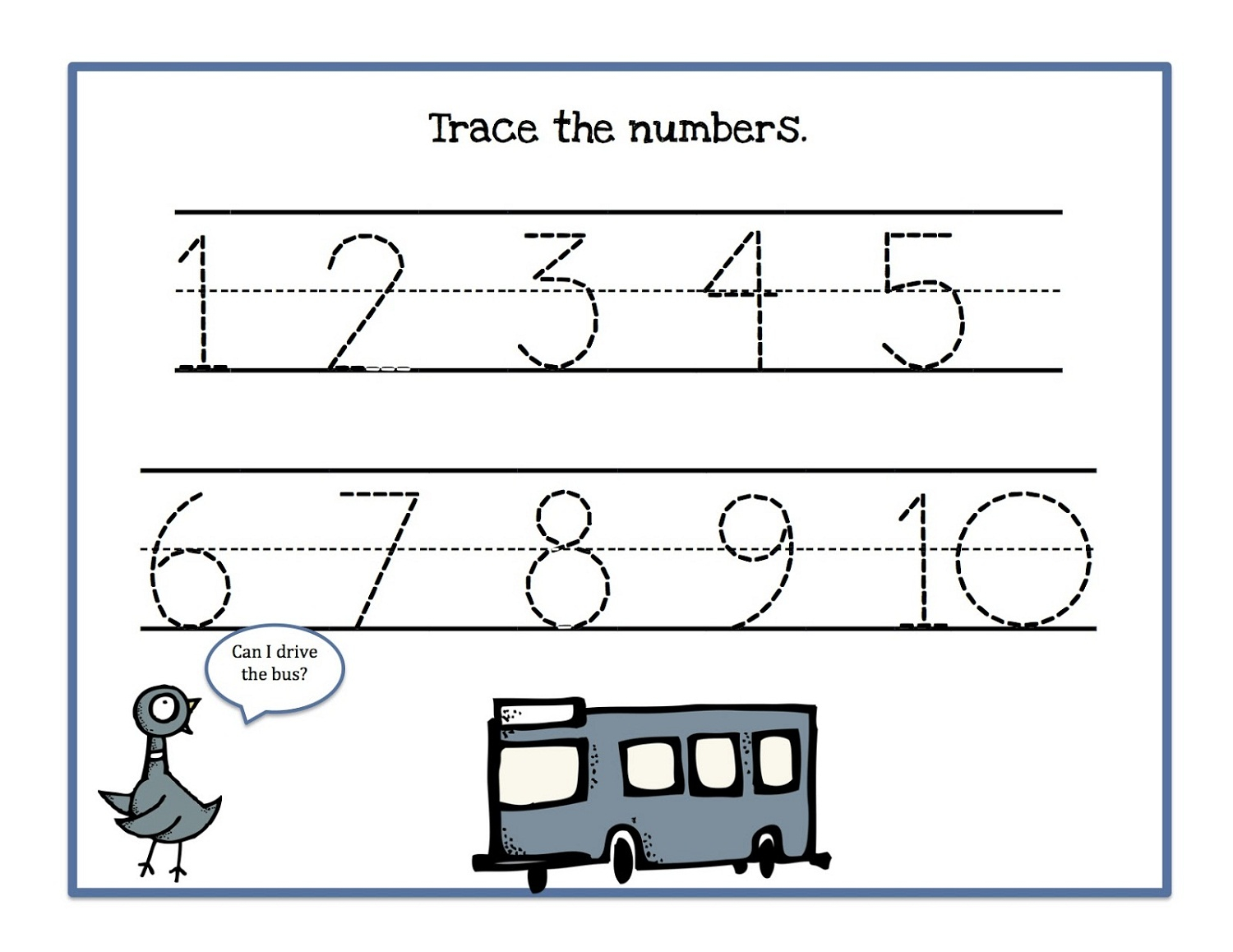 Tracing Numbers 1-10 Worksheets | Activity Shelter