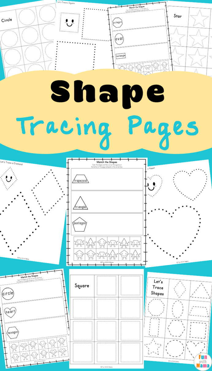 Tracing Shapes Worksheets Fun With Mama Shape For