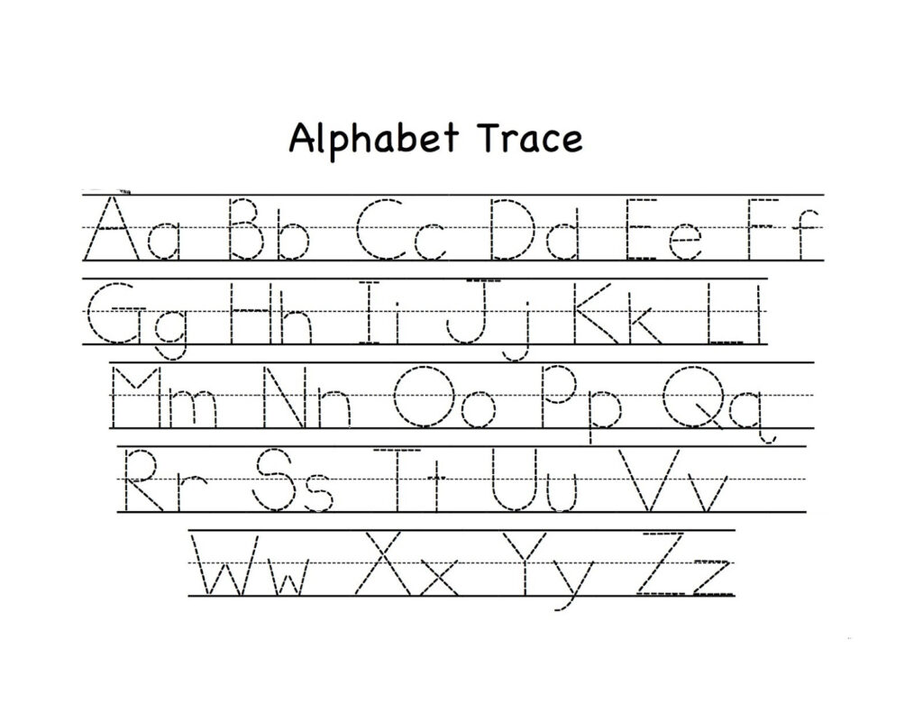 Tracing Worksheets For Kids Preschoolers Color Letter Free Within Letter Tracing Handouts