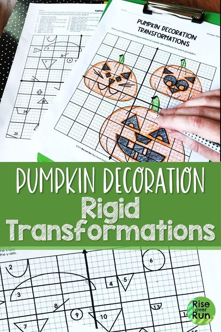 Transformations Halloween Activity For Geometry   Halloween