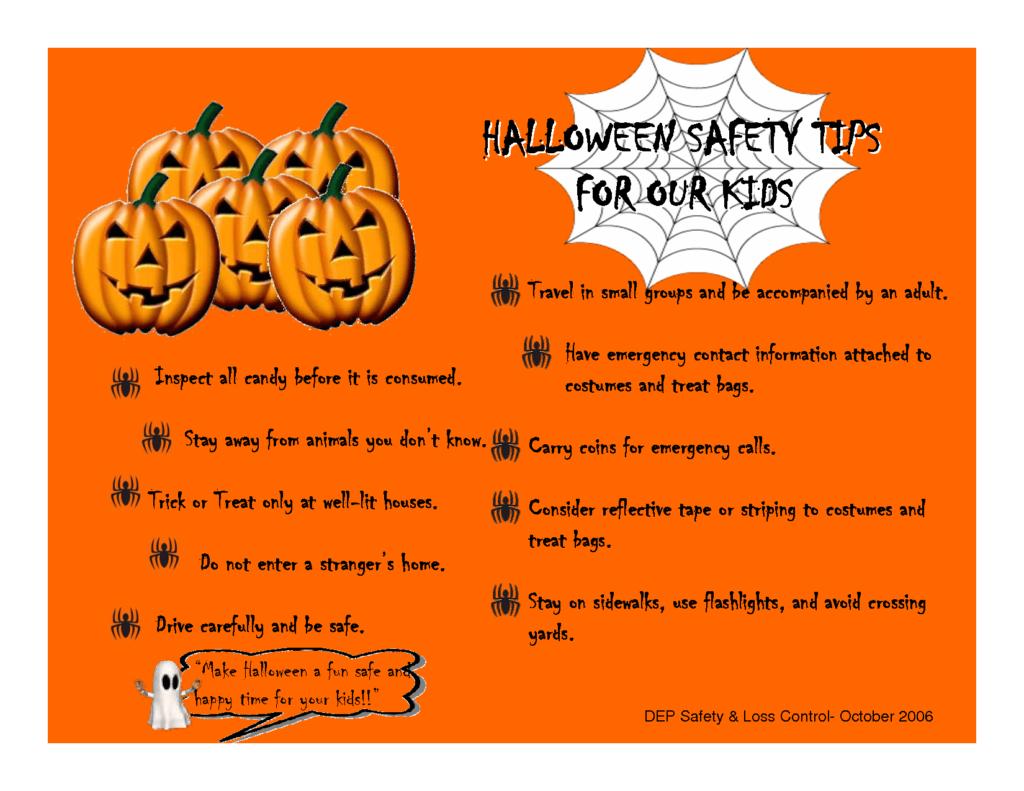 Trick Or Treating Safety Worksheet Kindergarten | Printable