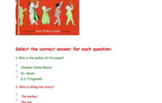 Twas The Night Before Christmas – Comprehension Questions