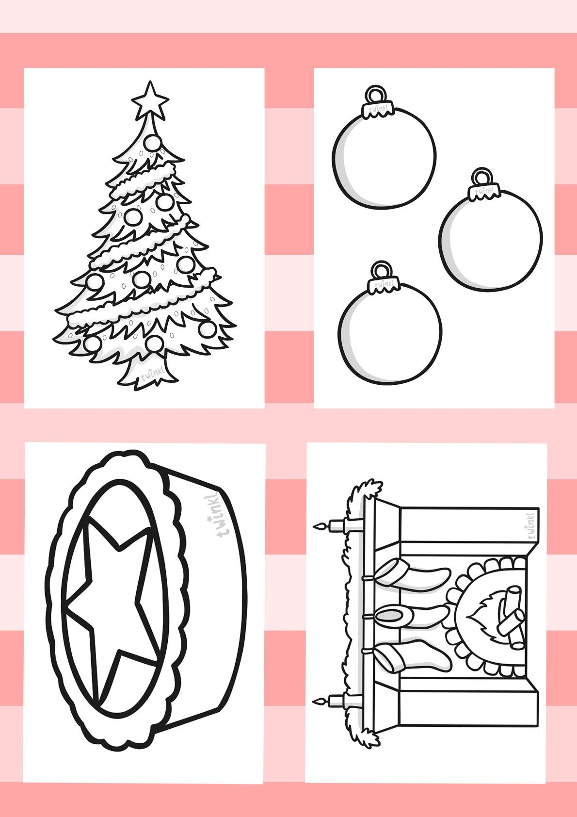 Twinkl Resources >> Christmas Colouring Sheets >> Printable
