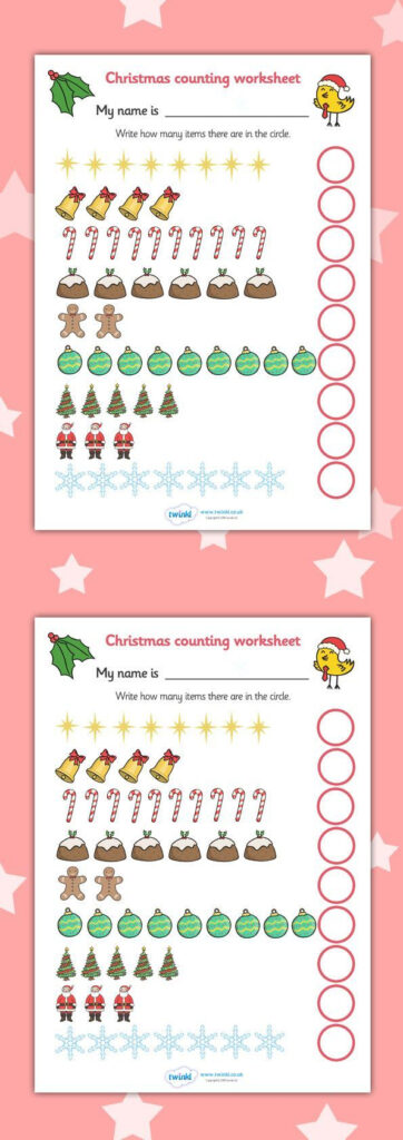 Twinkl Resources >> Counting At Christmas Worksheet