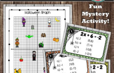 Writing Linear Equations Slope Intercept Form Worksheet Halloween Answers