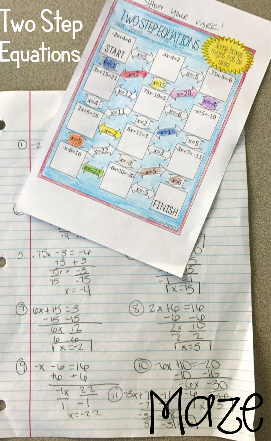 Two Step Equations Worksheet Was Perfect For My 7Th Grade