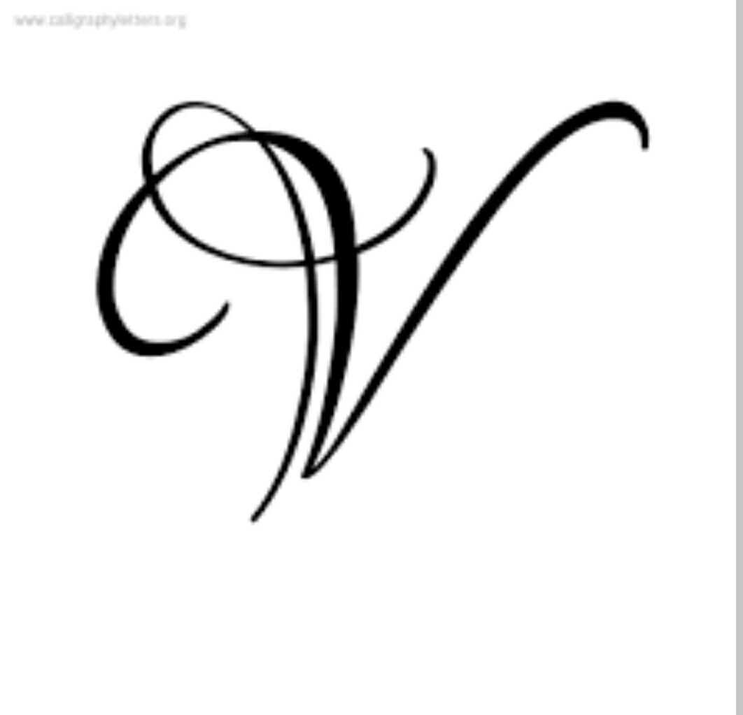 V Letter | V Tattoo, Tattoo Lettering, Fancy Letters