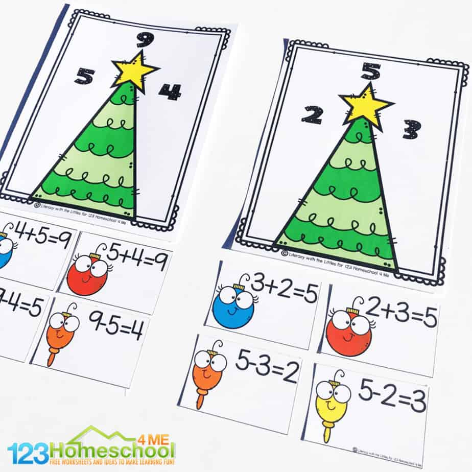Very Merry Christmas Fact Families Activity