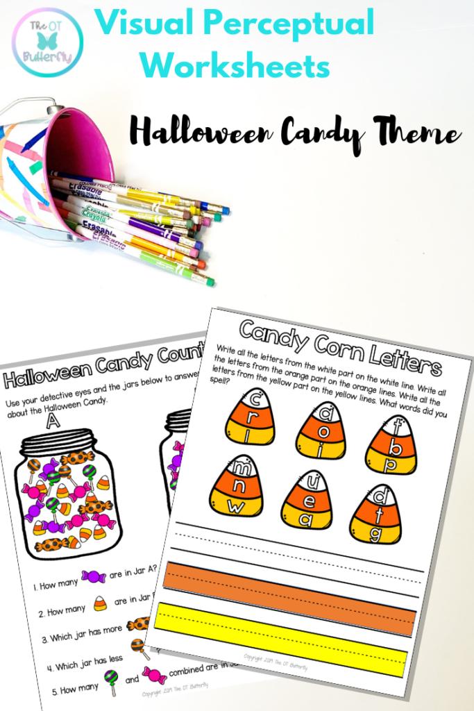 Visual Perceptual Worksheets: Halloween Packet, No Prep