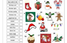 Vocabulary Matching Worksheet – Xmas | Christmas Worksheets