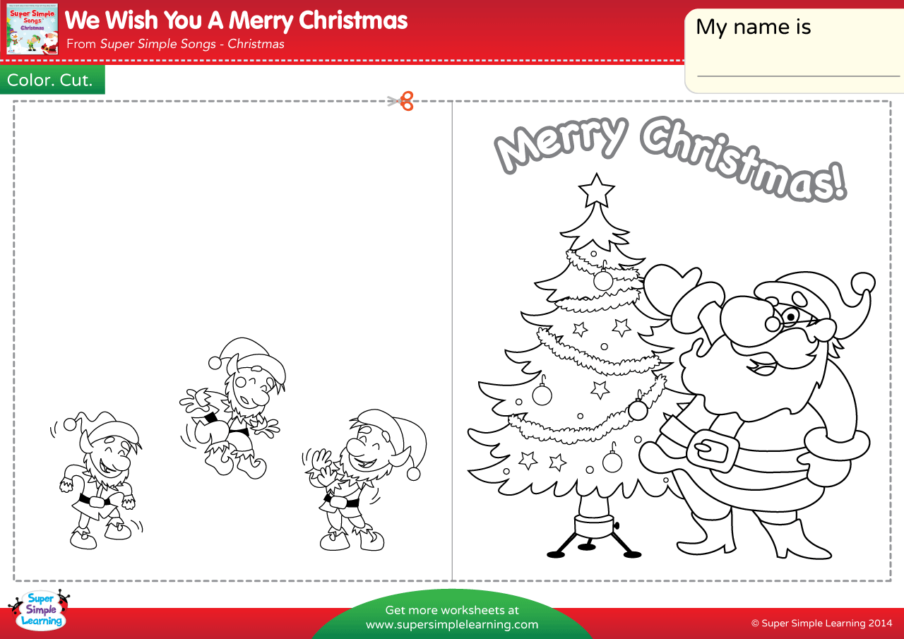 We Wish You A Merry Christmas Worksheet - Make A Chirstmas