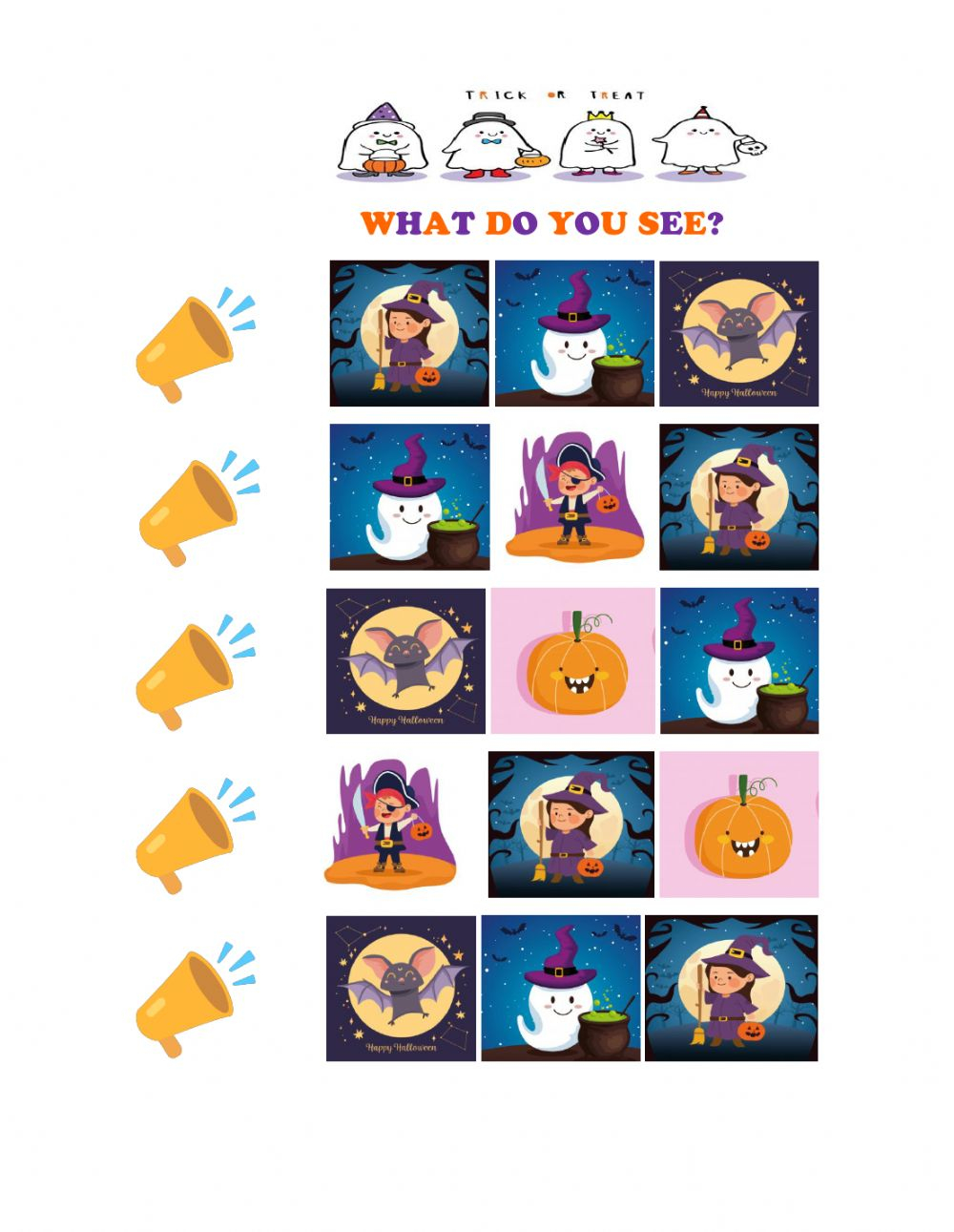 What Do You See? Halloween Worksheet
