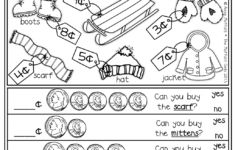 Christmas Shopping Math Worksheet