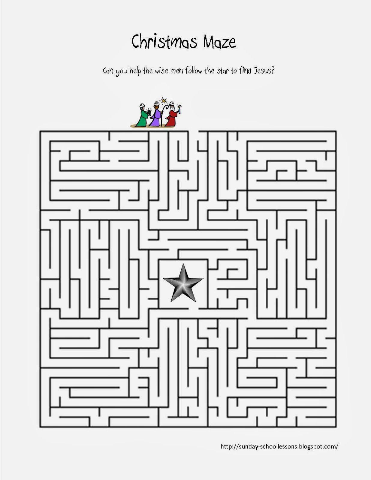 Wise Men Find Jesus Maze | Christmas Sunday School Lessons