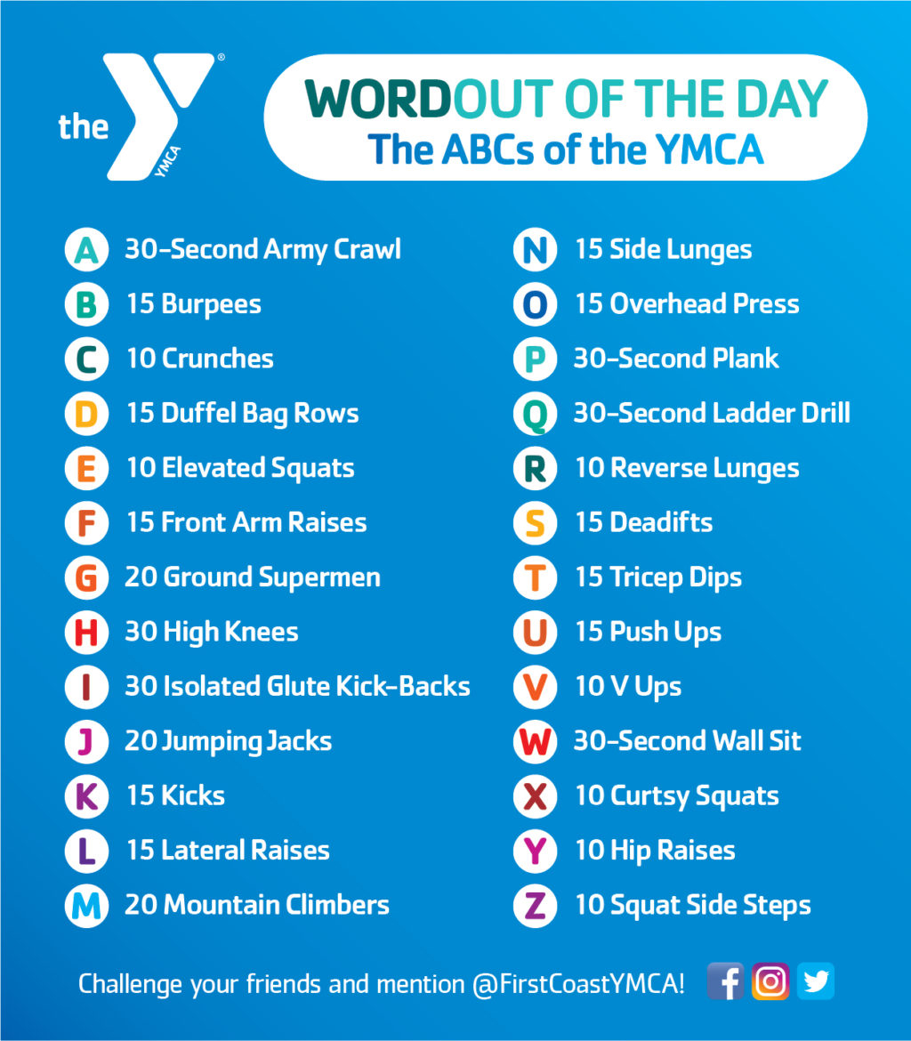 Wordout Of The Day - First Coast Ymca with Alphabet Exercises Workout