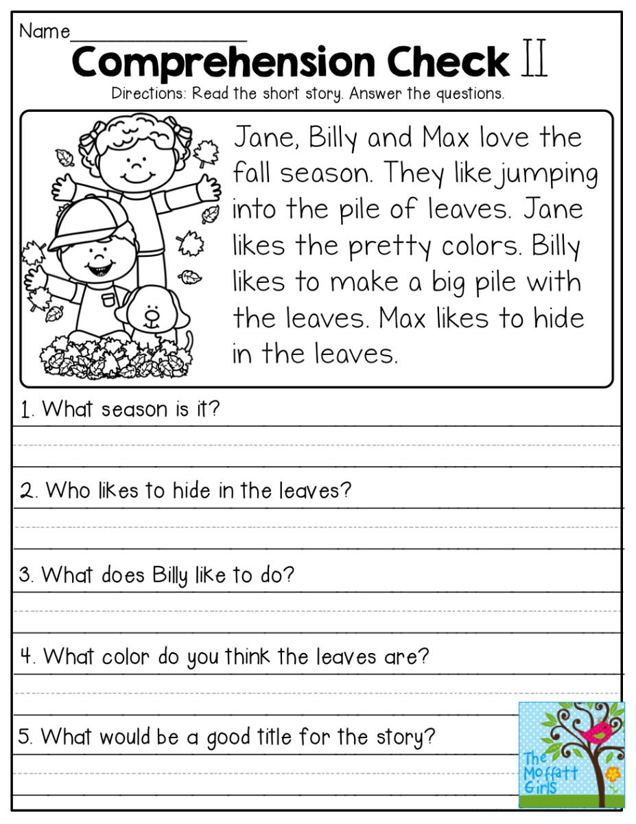 Worksheet ~ 1St Grade Worksheet Reading For Free Download