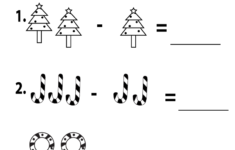 1st Grade Christmas Math Worksheets