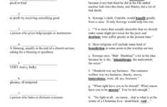 A Christmas Carol Worksheet Answers