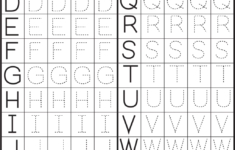 Worksheet ~ Alphabet Letter Tracing Worksheets 39636