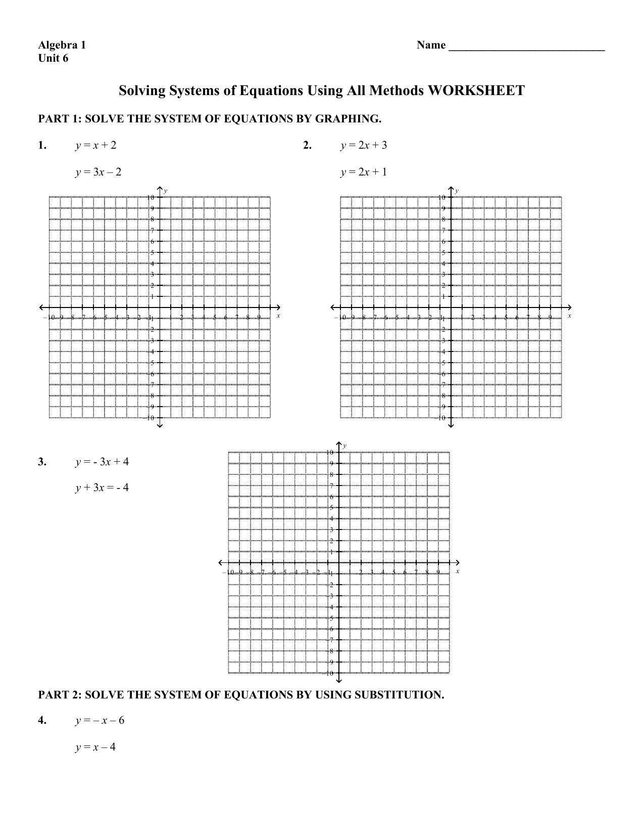 Worksheet Answer Keys Mathconceptualized | Solving Linear