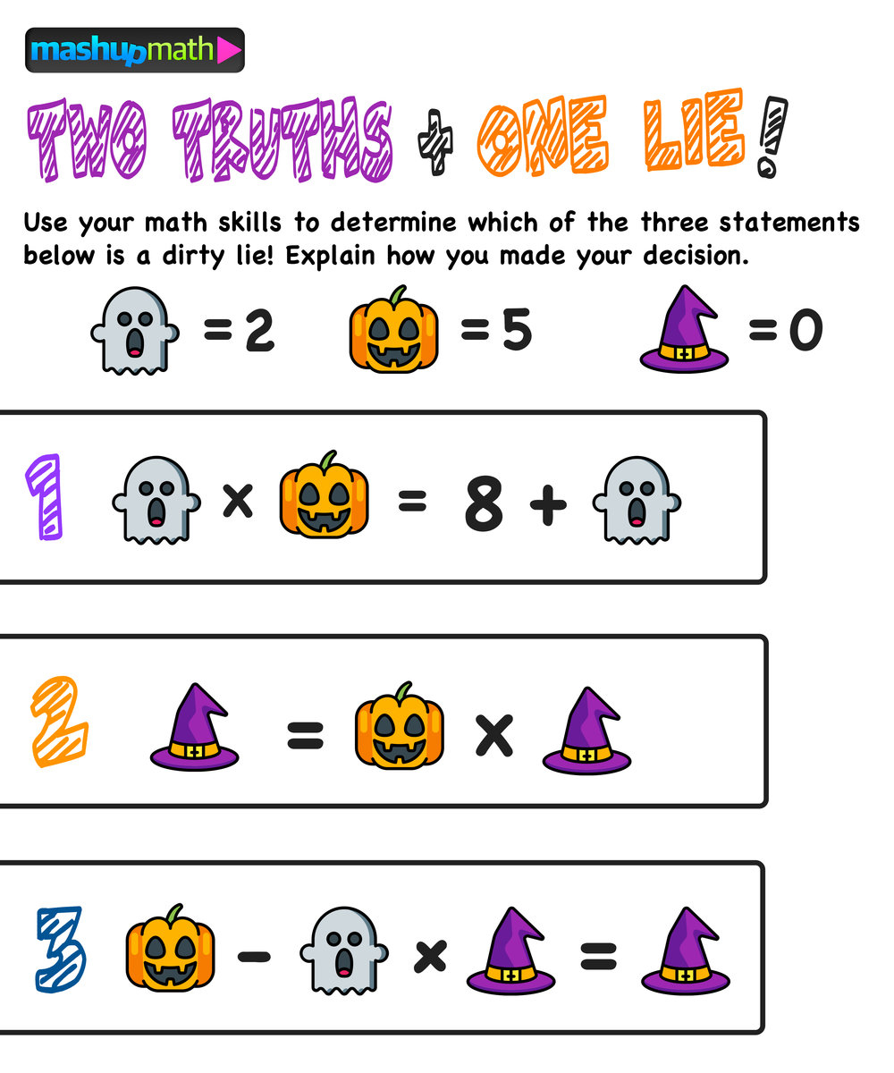 Worksheet ~ Are Your Kids Ready For These Halloween Math