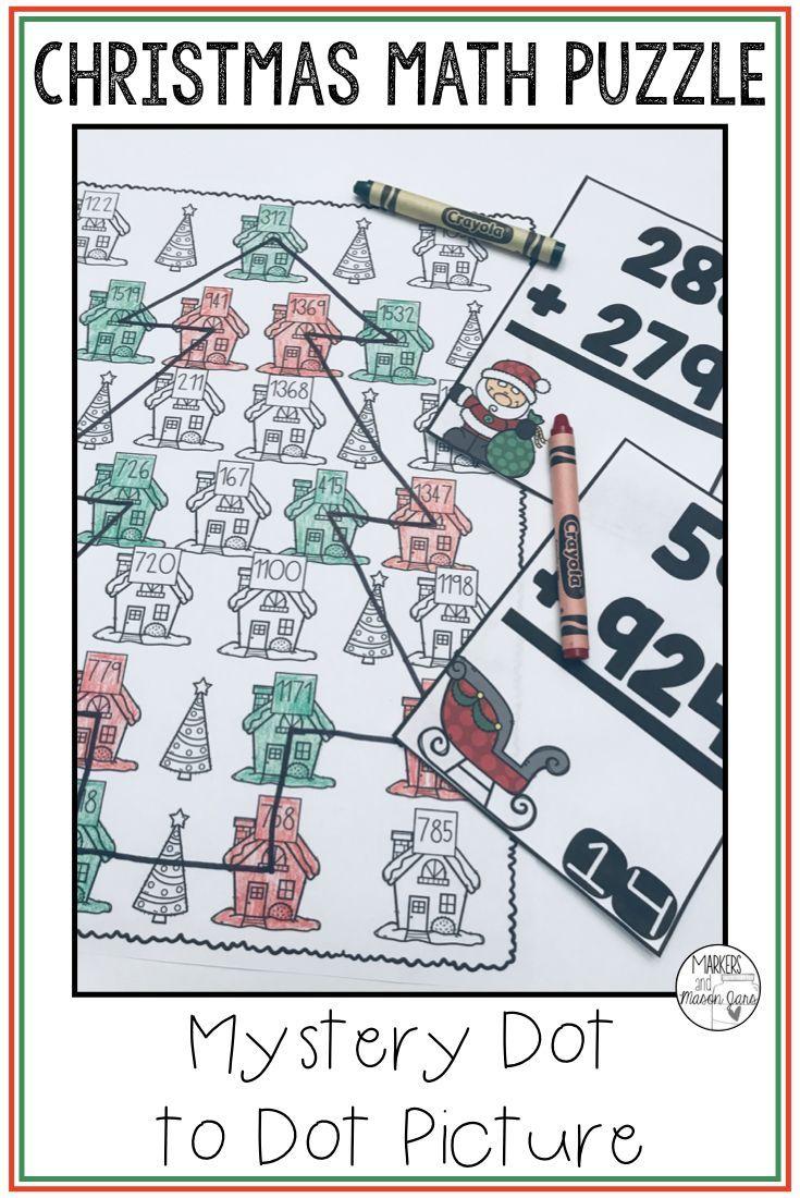 Worksheet ~ Christmas Math Activity Addition Mystery