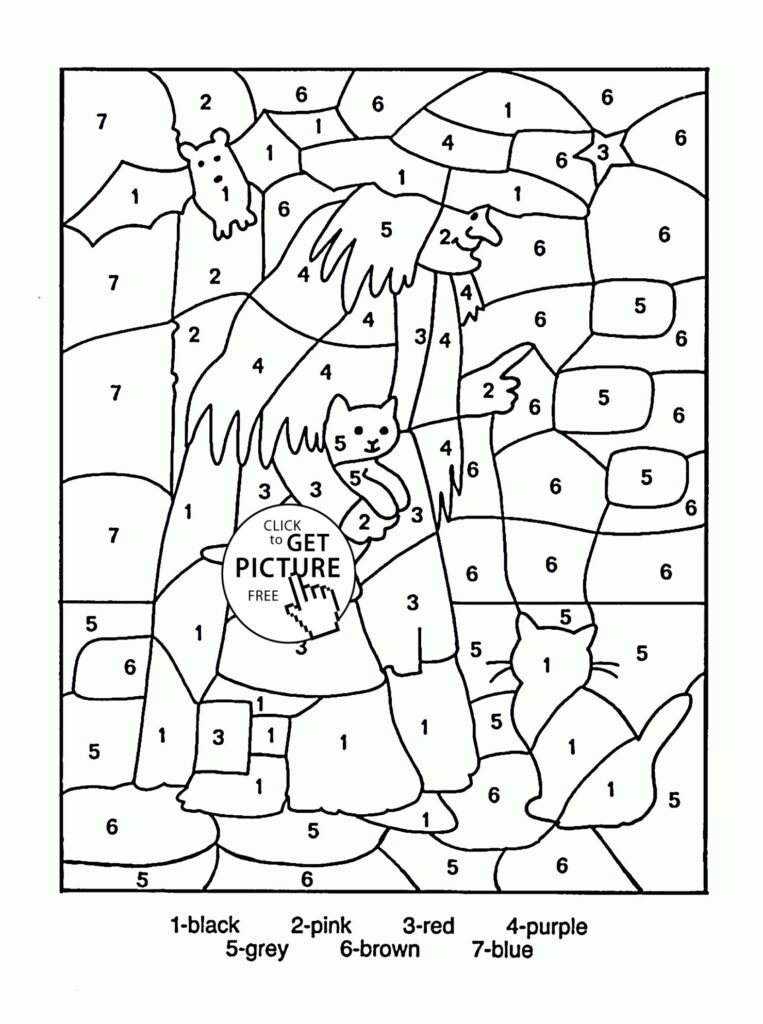 Worksheet ~ Christmas Math Coloringages Freerintable 5Th