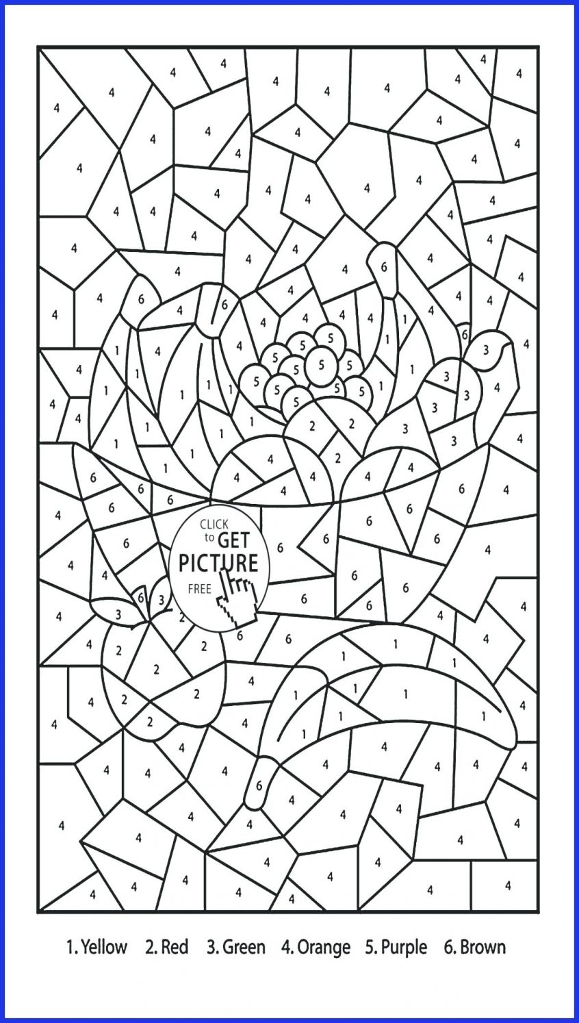Worksheet ~ Coloring Pages With Math Printable Color
