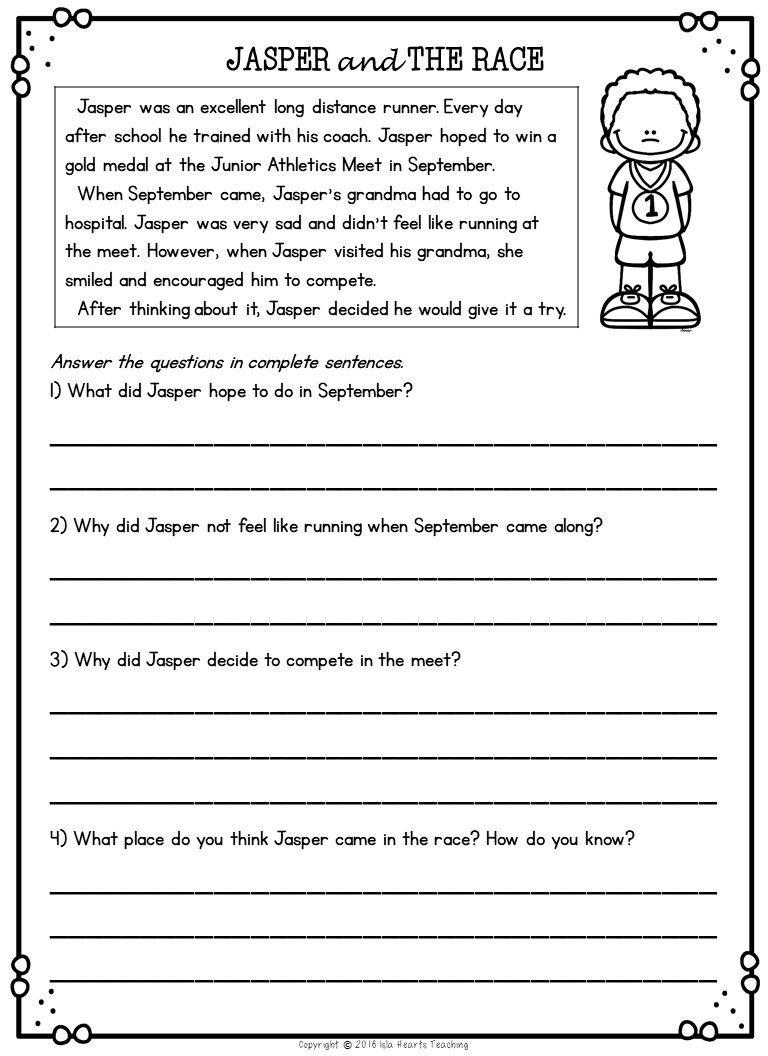 Worksheet ~ Comprehension 2Nd Grade Super Teacher Worksheets