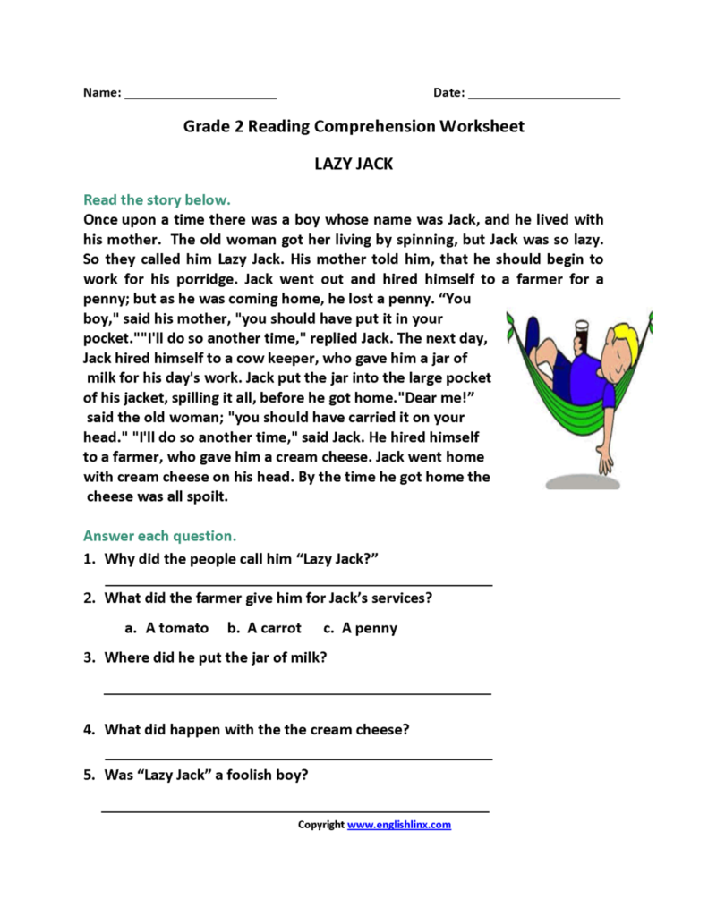 Worksheet ~ Comprehension 2Ndrade Halloween Reading Pictures