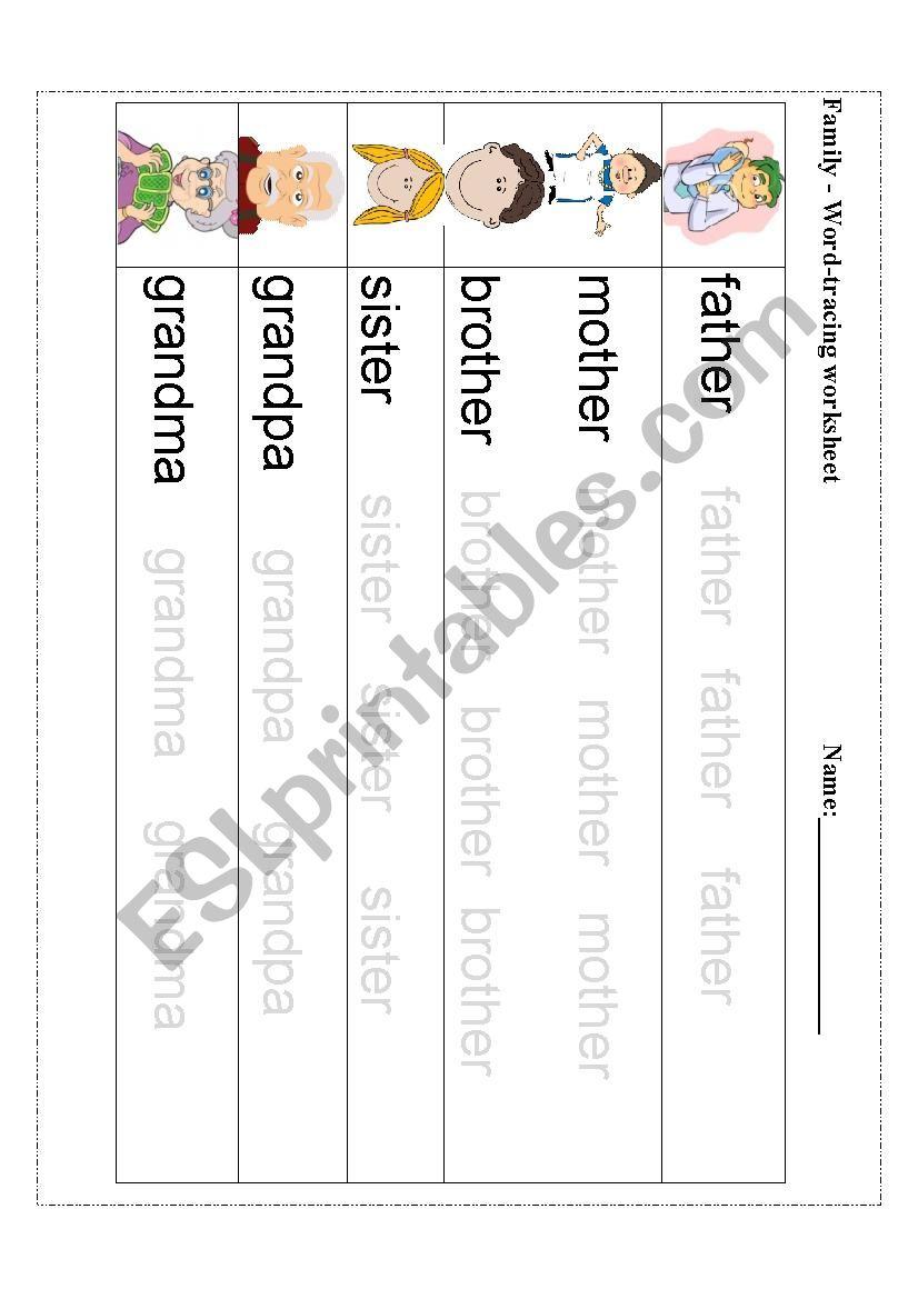 Worksheet ~ Createng Worksheets Word Family Members Esl