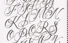 Cursive Alphabet Fancy