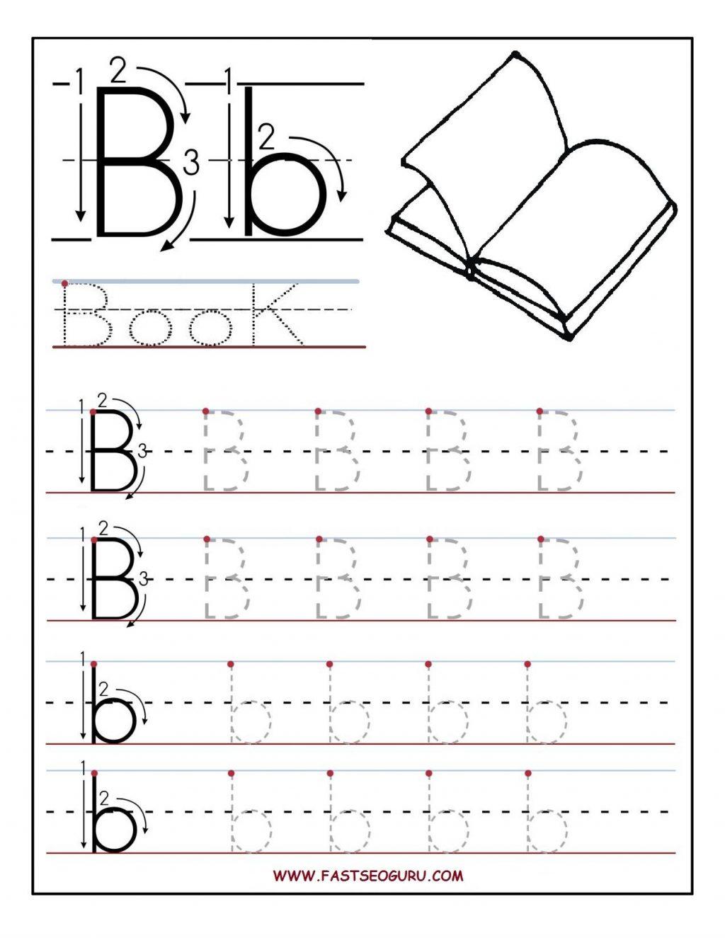 Worksheet Excelent Letter Tracing Worksheets Free Photo inside Pre K Alphabet Worksheets