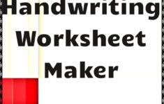 Handwriting Tracing Worksheet Generator