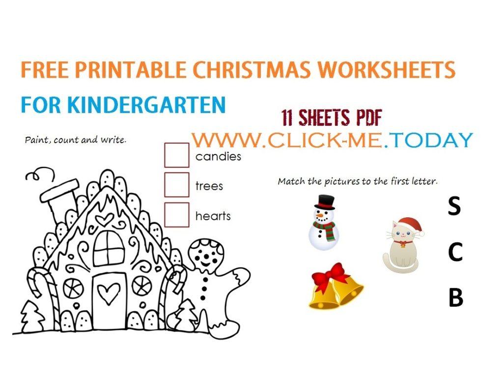 Worksheet ~ Free Printable Christmassheets Kindergarten Pdf