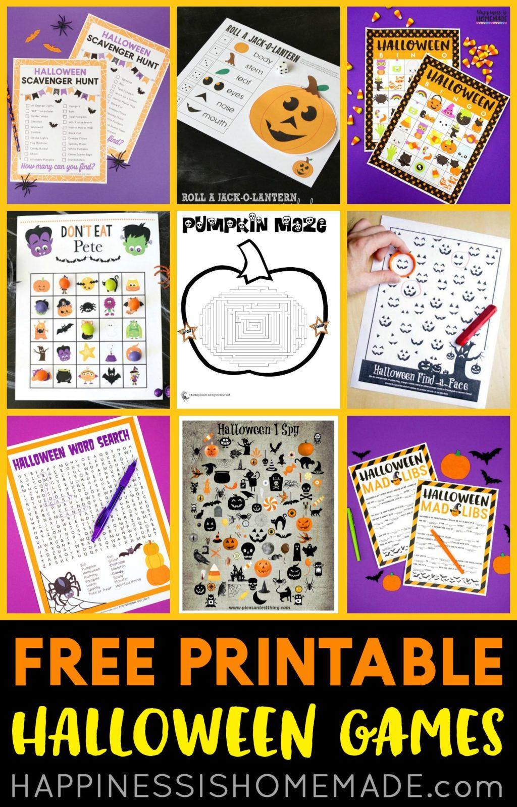 Worksheet ~ Free Printable Halloween Games For Kids