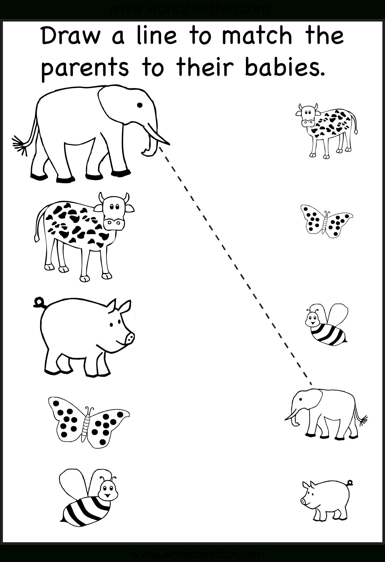 Worksheet ~ Free Printable Matching Worksheets For Preschool