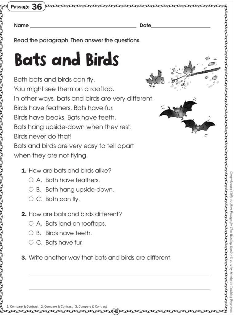 Worksheet ~ Free Printable Reading Comprehension Worksheets
