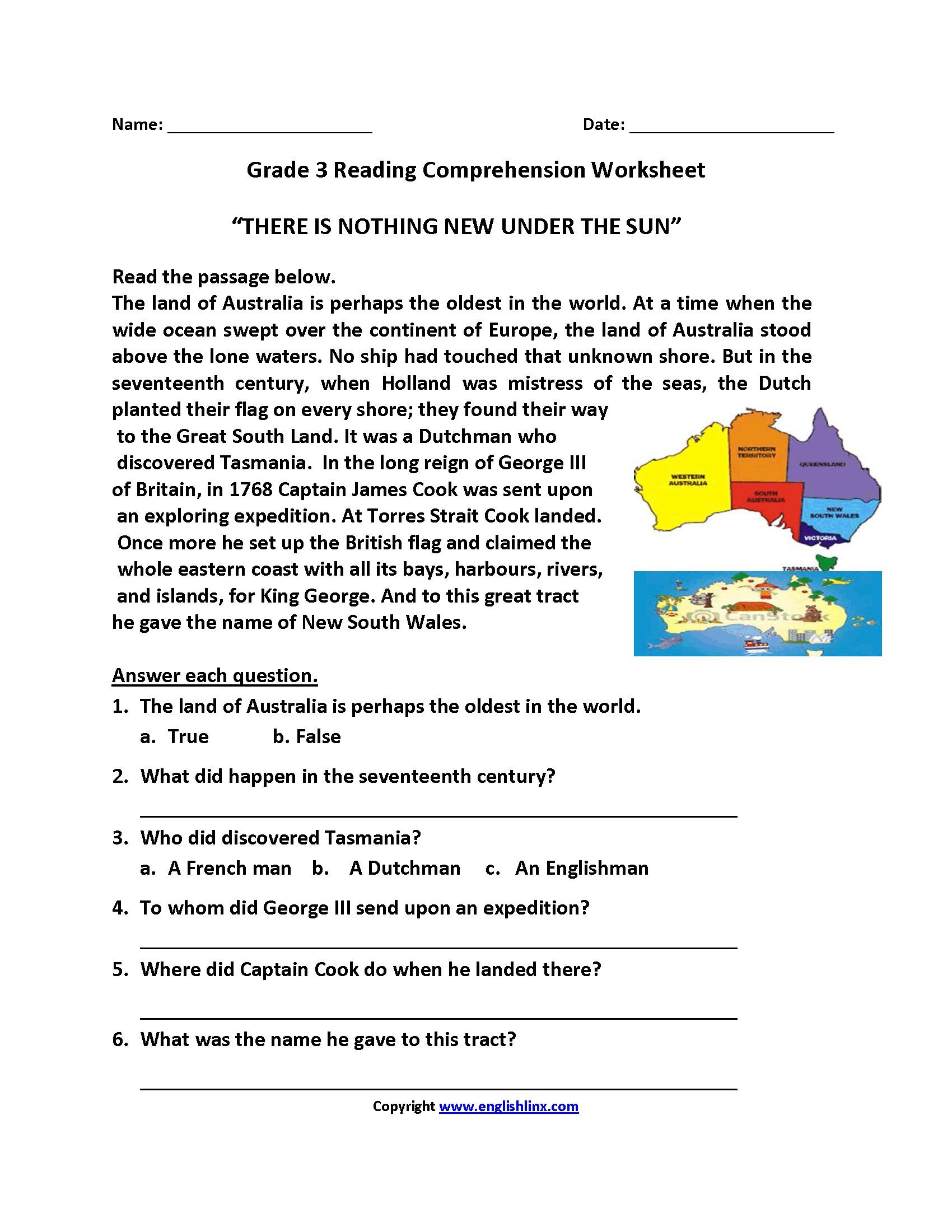 3rd Grade Christmas Language Arts Worksheets ...