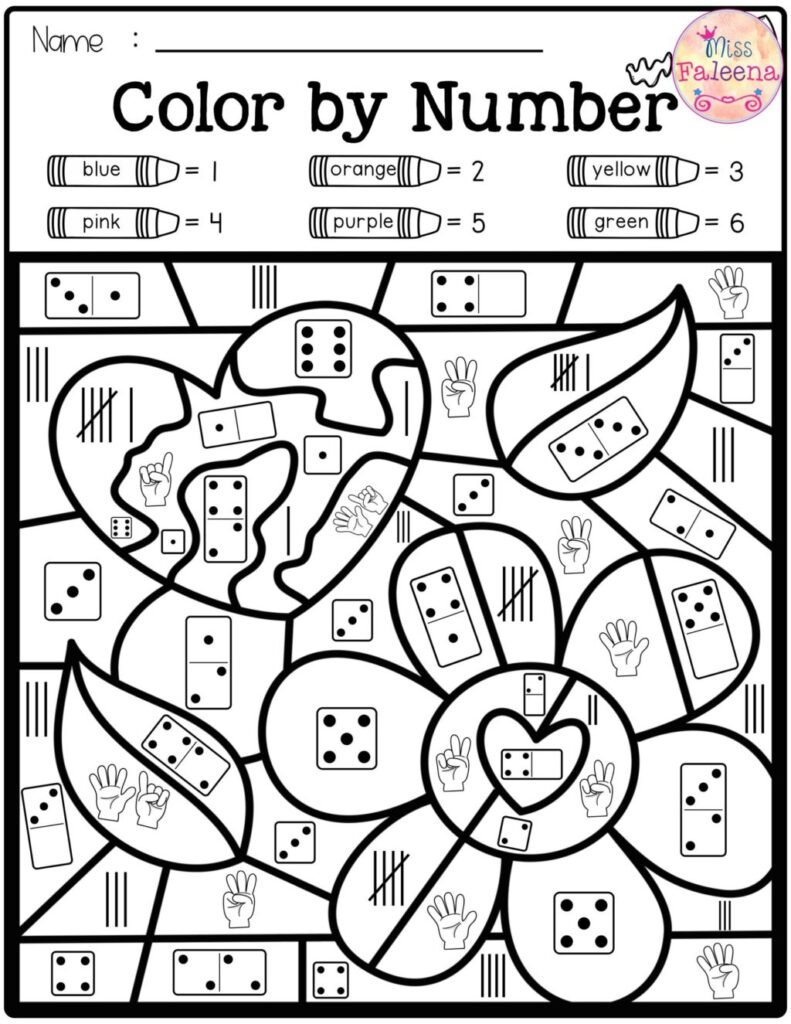 Worksheet ~ Freetraction Colornumber Coloring Pages