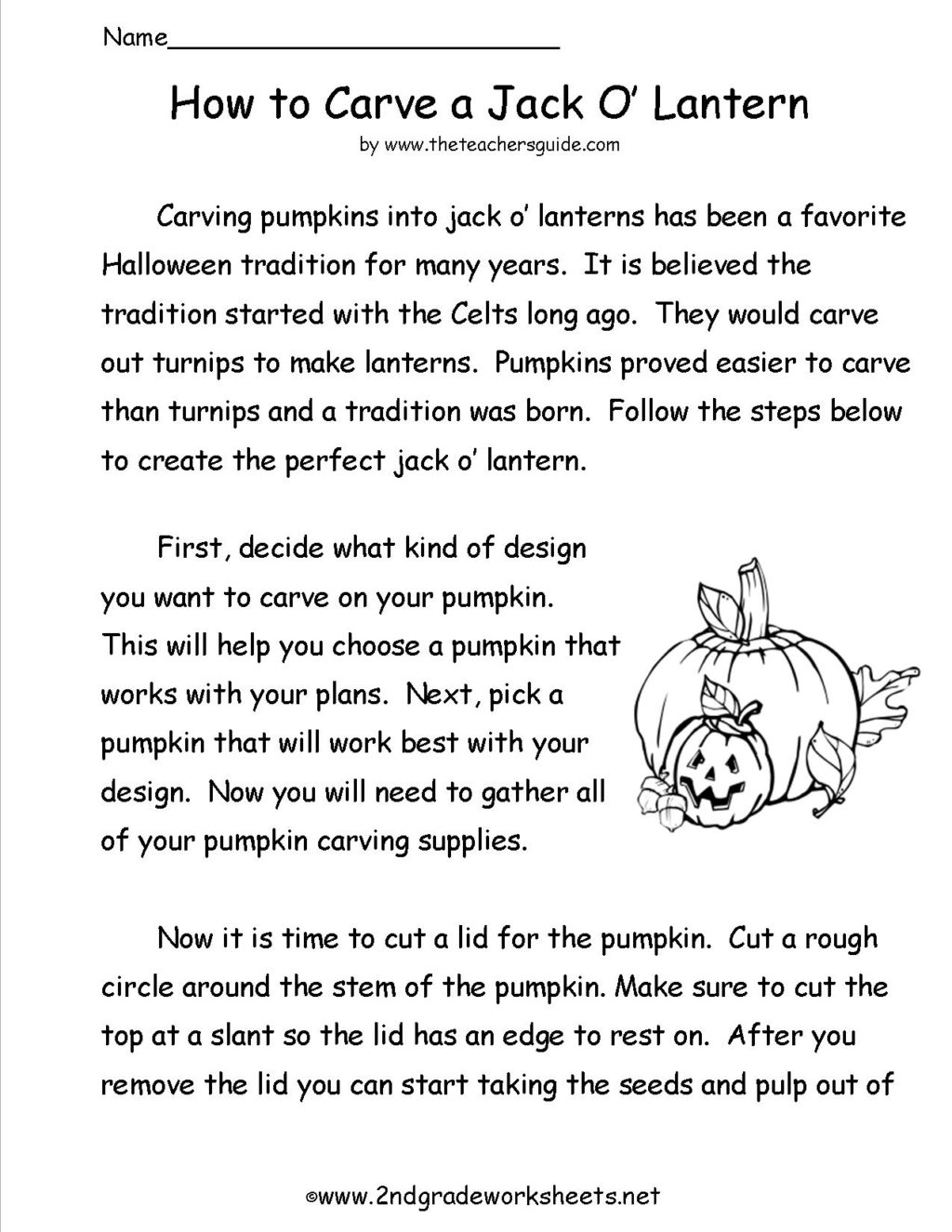 Worksheet ~ Fun Reading Activities For 1Strade Carveapumpkin