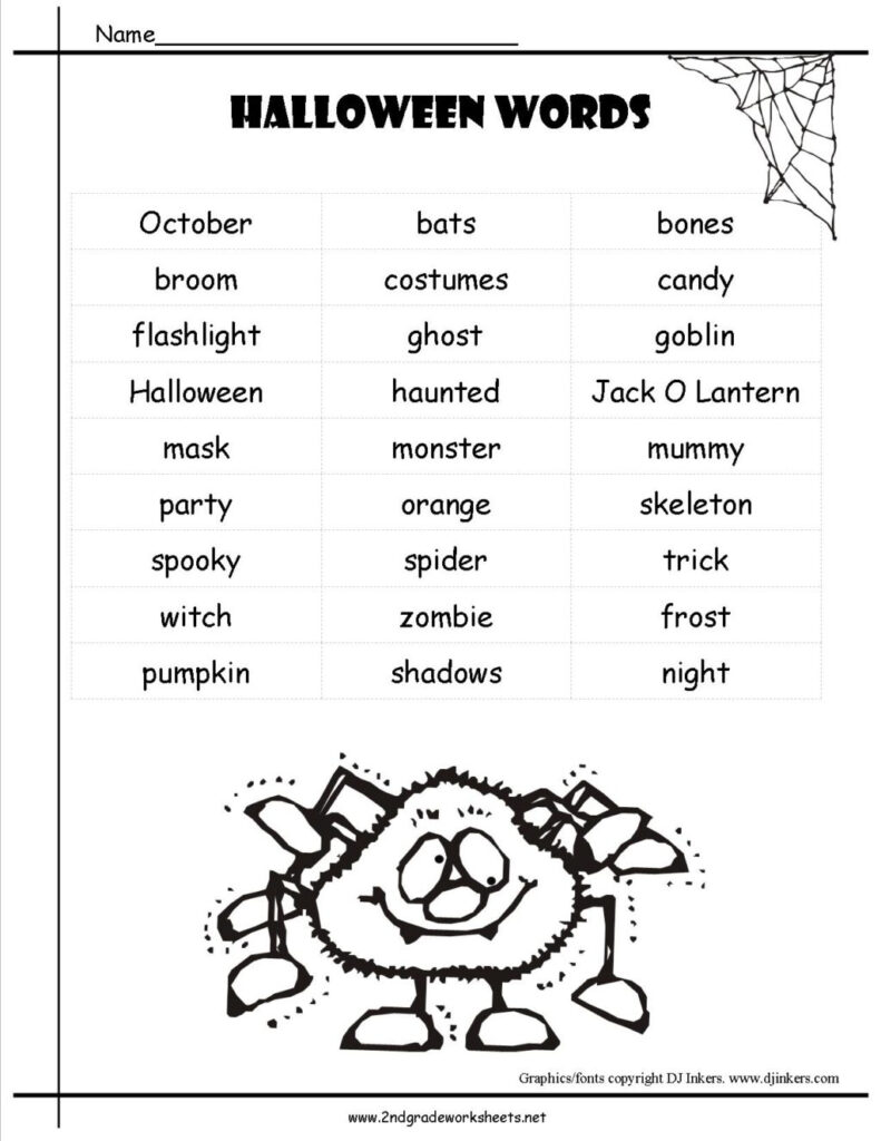 Worksheet ~ Halloween Worksheets Andtouts 2Nd Grade Reading
