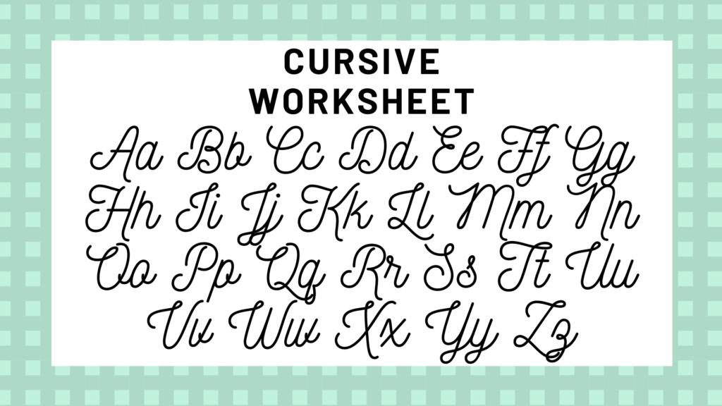 Worksheet ~ Handwriting Cursive Letters Alphabet Your Guide