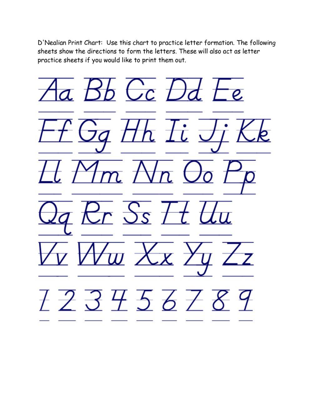Worksheet ~ Handwriting Practice Worksheets Dnealian